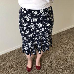 American Living Skirts - American Living Navy & White Floral Skirt
